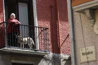 A: EDUARDO BUXENS F: 02 ABRIL 2020 L:Pamplona T: AMBIENTE CALLES DE PAMPLONA , CRISIS CORONAVIRUS